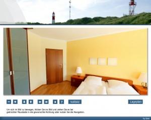 Strandhotel Najade auf Borkum - Doppelzimmerpanorama