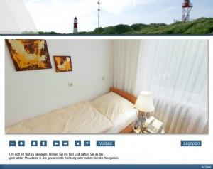 Strandhotel Najade auf Borkum - Einzelzimmerpanorama