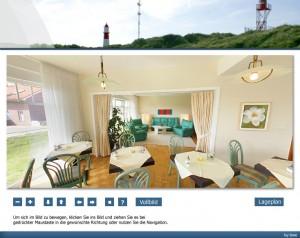 Strandhotel Najade auf Borkum - Frühstücksraumpanorama